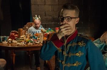 "Max Reuben and Nick Smerkanich in ""Il Regno Malati at Dinner""photo by Bailey Carr"