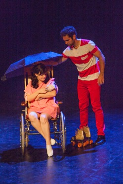 "Caitlin Morris and Wil Petre in ""Peggy Pregnant Skates"""